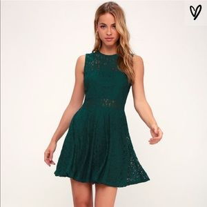 Lulus Evergreen Lace Mini Dress